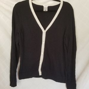 Old Navy Cardigan Black & White Size Large